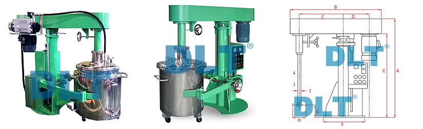 真空型变频变速搅拌机的主体结构,基本上和标准高速搅拌机的架构